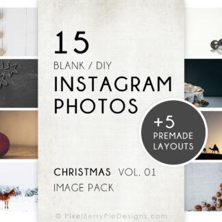 Blank/DIY Instagram Christmas Photo Pack