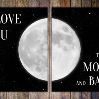 I Love You to the Moon and Back (2-piece Art Print Set)