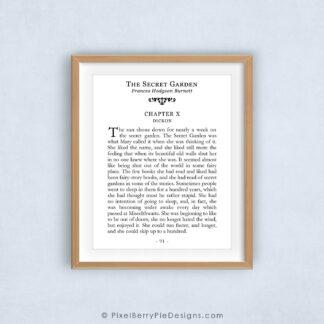 The Secret Garden book page 91