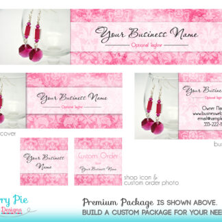 Pink Floral Etsy Shop Design, with Product Photos